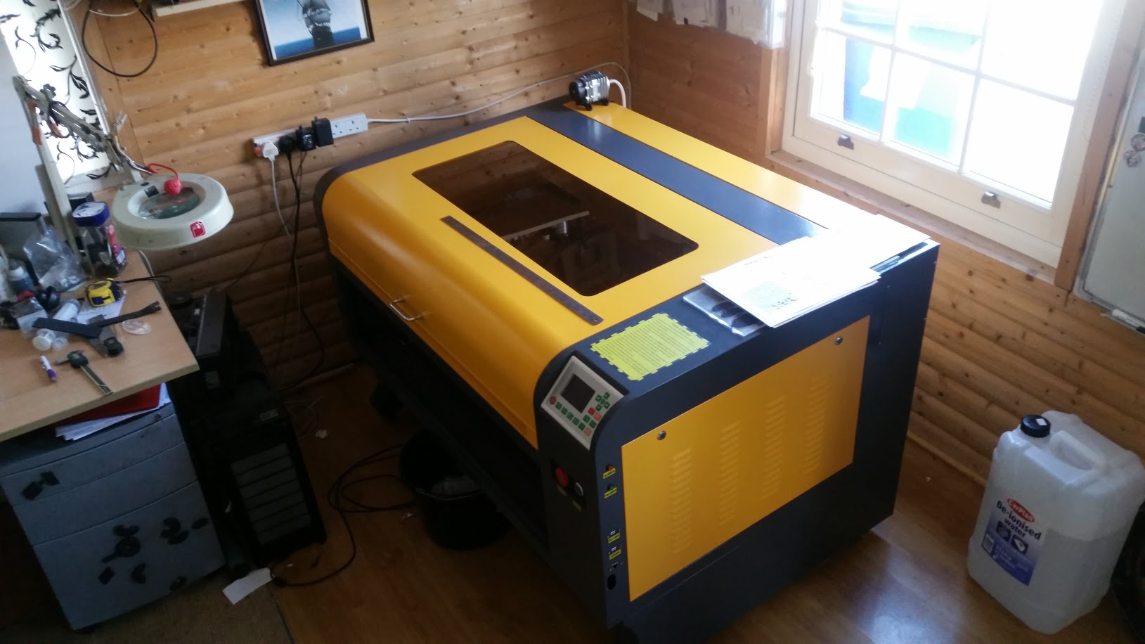 Rebuilding terribly engineered laser cutter